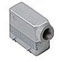 """HOOD - 16P+Ground  16A MAX - 600V  FOUR PEGS  SIDE ENTRY  HIGH CONSTRUCTION  CABLE GLAND NPT 3/4"""""""