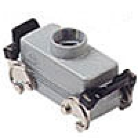 HOOD - 16P+Ground  16A MAX - 600V  DOUBLE LEVERS  TOP ENTRY  CABLE GLAND PG 21 (ILME CHV16X)