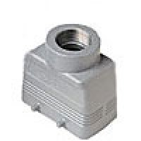 HOOD - 10P+Ground  16A MAX - 600V  FOUR PEGS  TOP ENTRY  CABLE GLAND PG 16 (ILME CHV10)