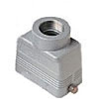 """HOOD - 10P+Ground  16A MAX - 600V  TWO PEGS  TOP ENTRY  CABLE GLAND NPT 1/2"""" (ILME CHVT10.4L)"""