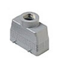 """HOOD - 16P+Ground  16A MAX - 600V  TWO PEGS  TOP ENTRY  CABLE GLAND NPT 1/2"""""""