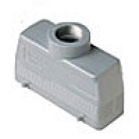 HOOD - 24P+Ground  16A MAX - 600V  FOUR PEGS  TOP ENTRY  CABLE GLAND PG 21 (ILME CHV24)