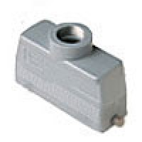 HOOD - 24P+Ground  16A MAX - 600V  TWO PEGS  TOP ENTRY  CABLE GLAND PG 21 (ILME CHV24L)