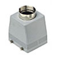 """HOOD - 32P+Ground  16A MAX - 600V  FOUR PEGS  TOP ENTRY  CABLE GLAND NPT 1"""" (ILME CHVT32.6)"""