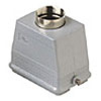 """HOOD - 48P+Ground  16A MAX - 600V  TWO PEGS  TOP ENTRY  CABLE GLAND NPT 1.25"""" (ILME CHVT48.7L)"""