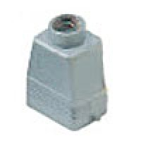 """HOOD - 6P+Ground  16A - 600V  TWO PEGS  TOP ENTRY  HIGH CONSTRUCTION  CABLE GLAND NPT 3/4"""" (ILME CAVT06.5L)"""