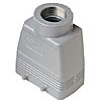 """HOOD - 10P+Ground  16A MAX - 600V  FOUR PEGS  TOP ENTRY  HIGH CONSTRUCTION  CABLE GLAND NPT 1.25"""""""