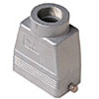 """HOOD - 10P+Ground  16A MAX - 600V  TWO PEGS  TOP ENTRY  HIGH CONSTRUCTION  CABLE GLAND NPT 1"""""""