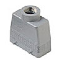 """HOOD - 16P+Ground  16A MAX - 600V  FOUR PEGS  TOP ENTRY  HIGH CONSTRUCTION  CABLE GLAND NPT 1"""" (ILME CAVT16.6)"""