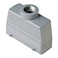 HOOD - 24P+Ground  16A MAX - 600V  FOUR PEGS  TOP ENTRY  HIGH CONSTRUCTION  CABLE GLAND PG 21 (ILME CAV24.21)