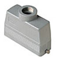 HOOD - 24P+Ground  16A MAX - 600V  TWO PEGS  TOP ENTRY  HIGH CONSTRUCTION  CABLE GLAND PG 21 (ILME CAV24L21)