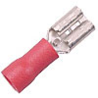 FR4A187 are Slide PVC female crimp terminals red 22-18GA wire .187 tab 100PK