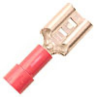 FR4A250 are Slide PVC female crimp terminals red 22-18GA wire .250 tab 100PK