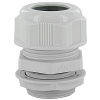 """DOME CAP CABLE GLAND M32  .51-.79""""  GRAY COMPLETE WITH O-RING & LOCKNUT"""
