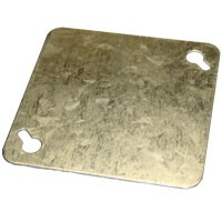 "DOUBLE DUPLEX COVER, 4""W, GALVANIZED STEEL"