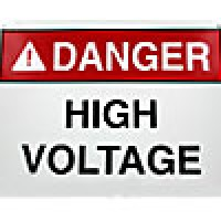"ALUMINUM SAFETY SIGN DANGER - ""HIGH VOLTAGE KEEP OUT"" (7""x10"")"