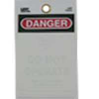 "WARNING TAGS ""DANGER - DO NOT OPERATE"" WITH SELF SEALING LAMA-TAG FOR PERSONALIZATION WITH PHOTO"