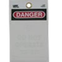 """WARNING TAGS """"DANGER - DO NOT OPERATE"""" WITH SELF SEALING LAMA-TAG FOR PERSONALIZATION WITH PHOTO"""
