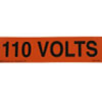 "VOLTAGE MARKER 1MARKER/CARD 2-1/4""x9"" 208V"