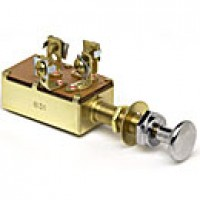 SPDT, OFF-ON-ON, 10A@12VDC, 4 BRASS SCREWS, CHROME-PLATED KNOB, W/FACENUT, WASHER, HEXNUT