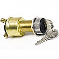 3-POSITION:OFF-IGN-IGN/START 3 BRASS SCREWS, W/KEY, RUBBER BOOT ASSEMBLY