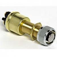 "SPST, NORMALLY OFF, 35A@12V, RECESSED BUTTON, 2 BRASS SCREWS, MOUNTING STEM: BRASS 5/8""-32 THREAD, BRASS CASE, SILVER CONTACTS"
