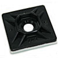 "ADHESIVE MOUNTING PADS, BLACK 1""x1"" (500/PACK)"