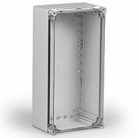 ENCLOSURE, TRANSPARENT COVER, UL, 15.75L (400MM) X 7.87W (200MM) X 5.20H (132MM)