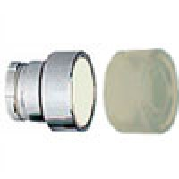 FLUSH HEAD SPRING RETURN ACTUATOR WITH CLEAR BOOT METAL WHITE