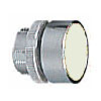 FLUSH PUSH BUTTON SPRING RETURN WHITE
