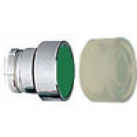 FLUSH HEAD SPRING RETURN ACTUATOR WITH CLEAR BOOT METAL GREEN (RB2BA38)