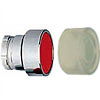 FLUSH HEAD SPRING RETURN ACTUATOR WITH CLEAR BOOT METAL RED (RB2BA48)