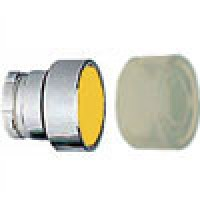 FLUSH HEAD SPRING RETURN ACTUATOR WITH CLEAR BOOT METAL YELLOW (RB2BA58)
