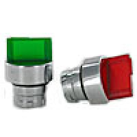 3 POSITION ILLUMINATED, MOUNTED, SELECTOR SWITCH, RED