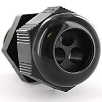 "RD16NA-3-6 are dome cap nylon cable glands 1/2"" NPT thread black  3 HOLE x 6MM (0.236"")"