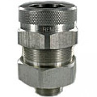 "3/4""  .955""-1.080"" NICKEL PLATED TECK CONNECTOR"