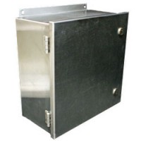 HINGED LIFT-OFF STAINLESS STEEL ENCLOSURES 10x8x4 NEMA 4-4X-12 / IP65
