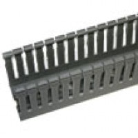 """S60100C is 2-1/4"""" x 4"""" wire duct gray 6'6""""pc with cover"""