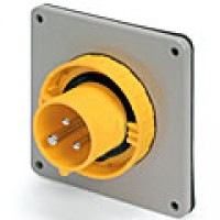 IP67/IEC309 PIN & SLEEVE INLET 20A  125VAC  2 POLE 3 WIRE  WATERTIGHT