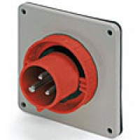 IP67/IEC309 PIN & SLEEVE INLET 30A  480VAC  2 POLE 3 WIRE  WATERTIGHT