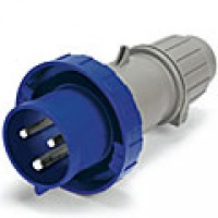 IP67/IEC309 PIN & SLEEVE PLUG 60A  250VDC  2 POLE 3 WIRE  WATERTIGHT