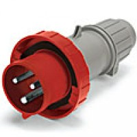 IP67/IEC309 PIN & SLEEVE PLUG 30A  480VAC  2 POLE 3 WIRE  WATERTIGHT
