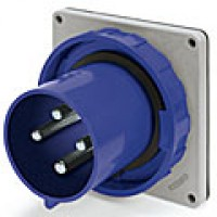 IP67/IEC309 PIN & SLEEVE INLET 60A  3 PHASE 250VAC  3 POLE 4 WIRE  WATERTIGHT