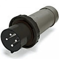IP67/IEC309 PIN & SLEEVE PLUG 100A  3 PHASE 600VAC  3 POLE 4 WIRE  WATERTIGHT