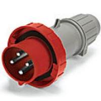 IP67/IEC309 PIN & SLEEVE PLUG 30A  3 PHASE 480VAC  3 POLE 4 WIRE  WATERTIGHT