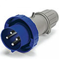 IP67/IEC309 PIN & SLEEVE PLUG 30A  3 PHASE 250VAC  3 POLE 4 WIRE  WATERTIGHT