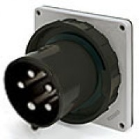 IP67/IEC309 PIN & SLEEVE INLET 60A  3 PHASE 347/600  4 POLE 5 WIRE  WATERTIGHT