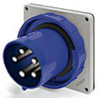 IP67/IEC309 PIN & SLEEVE INLET 20A  3 PHASE 120/208  4 POLE 5 WIRE  WATERTIGHT