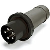 IP67/IEC309 PIN & SLEEVE PLUG 60A  3 PHASE 347/600  4 POLE 5 WIRE  WATERTIGHT