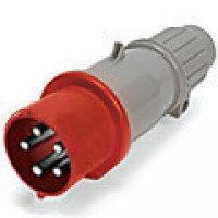 IP44/IEC309 PIN & SLEEVE PLUG 16A  220-240/380-415VAC  4 POLE 5 WIRE  SPLASHPROOF